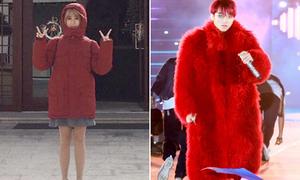 Sao style 10/12: Quỳnh Anh Shyn lộ chân bé xíu với áo style 'Sơn Tùng'