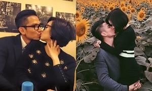 Những nụ hôn hạnh phúc của Tâm Tít và chồng
