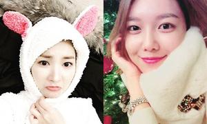 Sao Hàn 15/12: Soo Young mặt tròn vo, Park Min Young hóa thỏ siêu cute