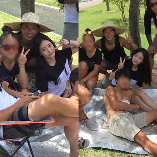 Những cặp đôi Hàn vẫn quấn quýt bất chấp gạch đá