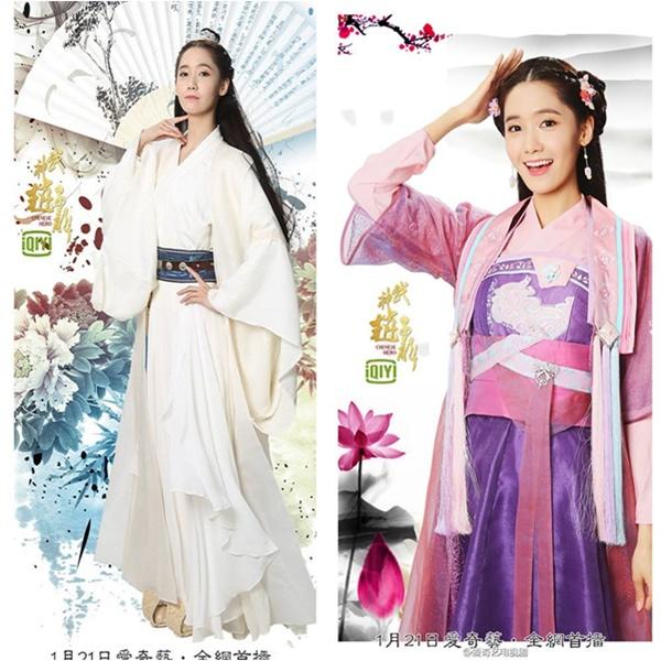 Yoon Ah lộ bàn tay dài, biến dạng trong tạo hình cổ trang