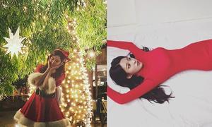Sao Hàn 25/12: SNSD rực rỡ đêm Noel, Seol Hyun khoe đường cong hút mắt