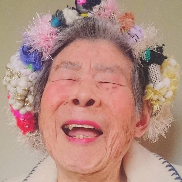 Nụ cười đáng yêu ở tuổi 93 của cụ bà Emiko Mori.