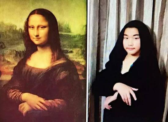 Một trường tiểu học ở thành phố Hàng Châu (tỉnh Chiết Giang) cho học sinh   thực hành mô phỏng các tác phẩm hội họa nổi tiếng thế giới để triển lãm trong   ngày hội nghệ thuật của trường.