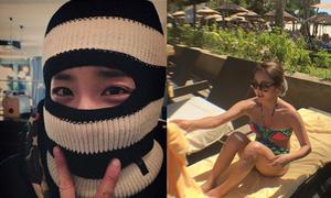 Sao Hàn 26/1: Dara trang bị mũ len chống rét, Hyo Yeon diện bikini tắm nắng
