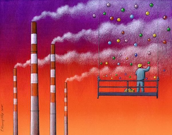 Nạn ô nhiễm môi trường, khói bụi đôi khi bị che phủ bởi những thứ phù phiếm.