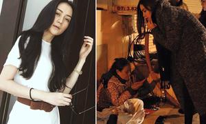 Sao Việt 4/2: Thiều Trang make-up như người ốm, Hà Hồ phát quà ở vỉa hè