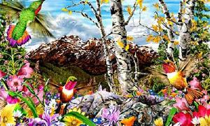 Đố vui: Đếm số chim trong khu vườn sắc màu