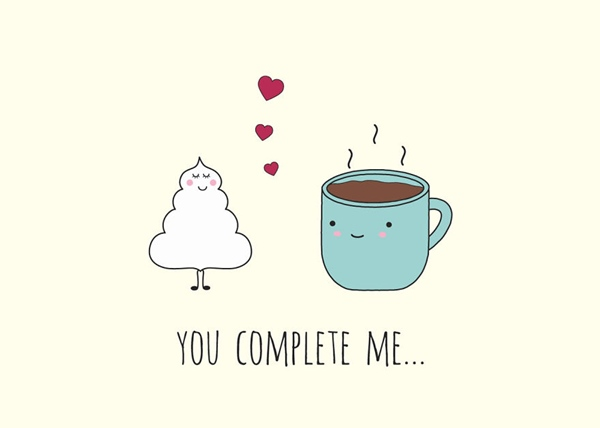 Cặp đôi hoàn hảo kem và cà phê