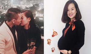 Sao Việt 8/2: Hà Lade khoe nụ hôn giao thừa, Ly Kute cho em bé đón năm Khỉ