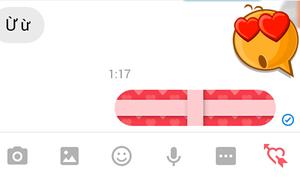 Ứng dụng bọc quà cho tin nhắn Valentine trên Facebook