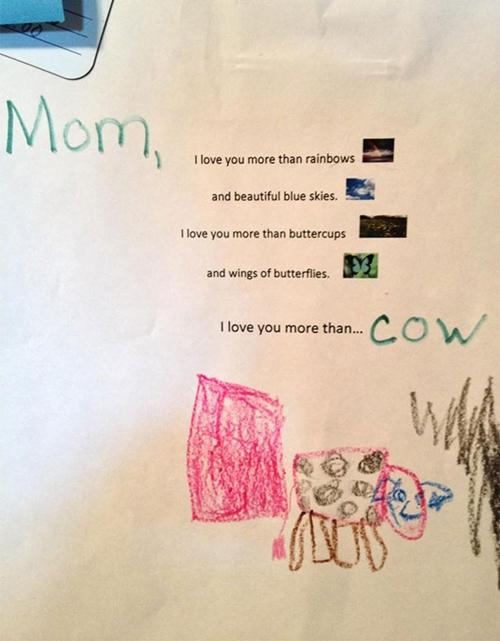 """""""Mẹ, con yêu mẹ hơn cả con bò""""."""