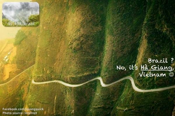 Đường đèo hiểm trở nên đang ở chính Hà Giang và