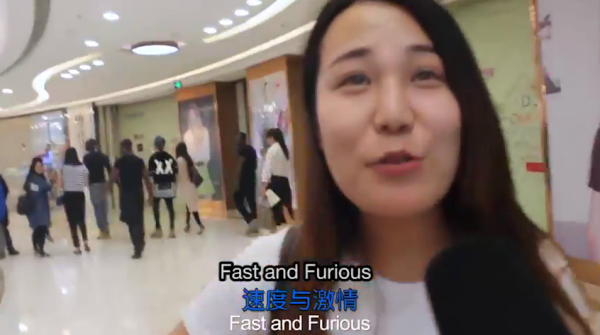 Khi được hỏi yêu thích bộ phim nào do anh chàng thủ vai, cô gái này đã không ngần ngại trả lời là bộ phim Fast and Furious?! Và mừng rơn vì được ekip cho biết mình đã& đoán trúng.