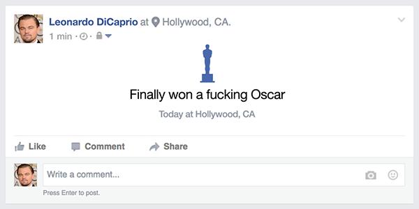 Rần rần ảnh chế khi Leonardo DiCaprio đã có tượng Oscar trong tay