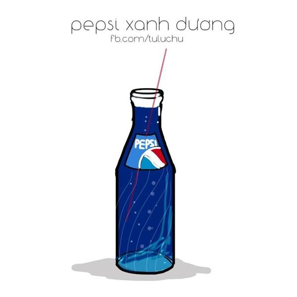 """Pepsi màu xanh dương là """"đặc sản"""" chỉ có 8x, 9x đời đầu mới từng nếm thử. Đợt loại nước này ra mắt, ai cũng thi nhau uống đến xanh cả lưỡi."""