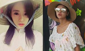 Sao Hàn 15/3: Jung Eum mặc váy mát mẻ lộ nội y, Eun Jung dịu dàng áo dài trắng