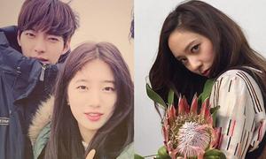 Sao Hàn 15/4: Suzy xinh đẹp bên Kim Woo Bin, Krystal mắt lườm sắc lẻm