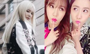Sao Hàn 16/4: Yoon Ah - Tiffany như sinh đôi, Qri tóc bạch kim chất lừ