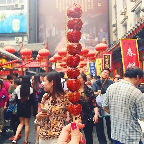 Kẹo hồ lô Trung Quốc.