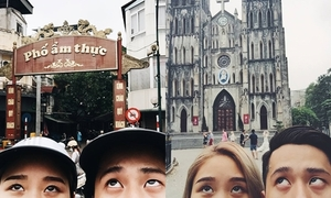 Cặp đôi Thu Trang - D.Crown rủ nhau 'đưa mắt đi du lịch'