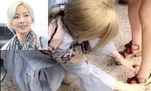 Tae Yeon ga-lăng như Shi Jin, buộc dây giày hộ Seo Hyun