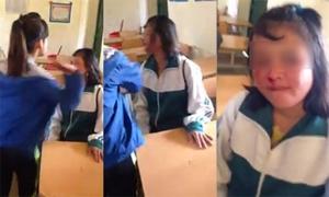 Nữ sinh bị bạn cùng lớp tát liên tiếp 50 lần vào mặt