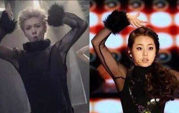 Có một sự trùng hợp không hề nhẹ giữa cánh tay áo xuyên thấu, cổ tay tua tủa giữa cựu thành viên Lu Han và đàn chị So Hee (Wonder Girls).