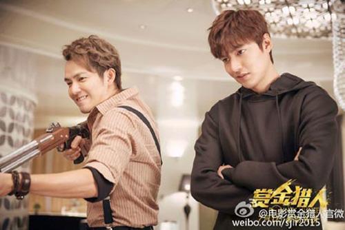 Ở một bức hình khác, Lee Min Ho nhìn chằm chằm vào đối thủ của mình. Trong mắt anh như có lửa hận thù. Người bên cạnh Lee Min Ho chính là Chung Hán Lương với vai một planner (người lên kế hoạch) cho vụ săn tiền thưởng.