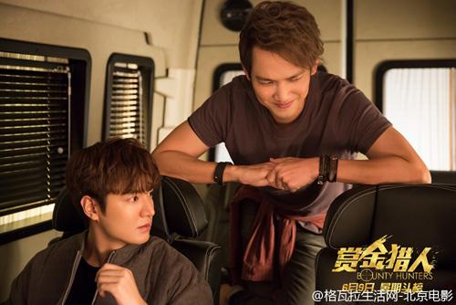 Bạn diễn Chung Hán Lương đóng cặp ăn ý với Lee Min Ho trong kế hoạch tác chiến với mục tiêu săn tiền thưởng.