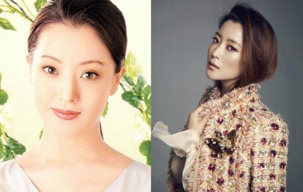 Kiểu mày cong, mảnh theo mốt ngày xưa của Kim Hee Sun và diện mạo hiện tại.