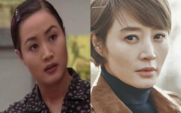 Kim Hye Soo cũng đổi kiểu lông mày hợp mốt và thời trang hơn.