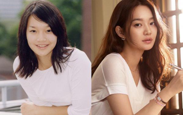 Shin Min Ah xinh đẹp hơn hẳn sau khi chỉnh sửa kiểu lông mày mỏng trước đây.