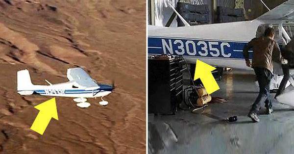 Chiếc máy bay nhỏ màu trắng John và Kate đi lúc đầu mang số hiệuN3035C