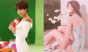 Sao Hàn 8/6: Hwang Jung Eum lộ vòng 3 phẳng, Hyo Min 'đốt mắt' với bikini