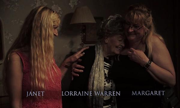 Những nhân chứng sống của vụ nhiễu ma Enfield, từ trái sang: Janet, nhà ngoại cảm Lorraine Warren và chị gái của Janet - Margaret
