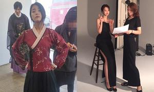 Sao Hàn 4/7: IU vênh mặt đanh đá, Go Joon Hee khoe dáng siêu mẫu