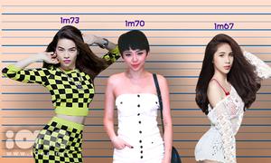 Nữ ca sĩ Việt có chiều cao chênh nhau thế nào