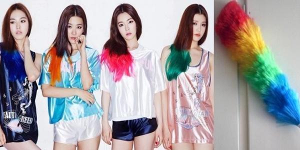 Kiểu tóc debut của Red Velvet không chỉ ấn tượng mà còn khiến các fan có nhiều liên tưởng, ví dụ như màu sắc của cây chổi lông gà này đây.
