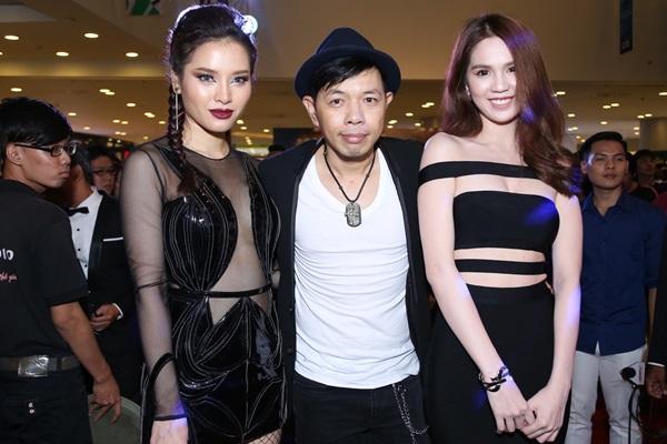 Song Trinh pose ảnh cùng ông vua phòng vé, đồng thời là nam chính của Fan cuồng - Thái Hòa.