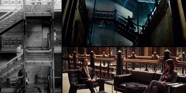 Toà nhà Bradbury với kiến trúc lạ mắt, có thể dễ dàng nhận biết qua thiết kế cầu thang cổ điển xếp tầng lên nhau. Đây là bối cảnh của hàng chục bộ phim lớn nhỏ đủ thể loại. Có thể kể đến500 days of Summer,The Artist, Blade Runner,Wolf, seriesCSI: NY,... trong danh sách phim quay ở Bradbury.