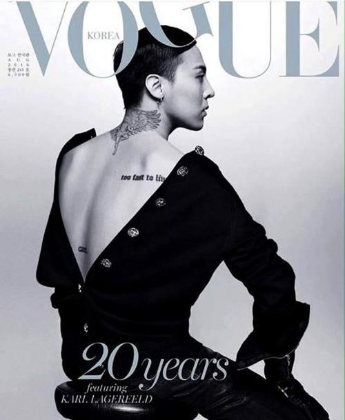 Màn khoe lưng thần thánh của G-Dragon trên tạp chí gần đây đã trở thành chủ đề nóng, được các fan Kpop bình luận sôi nổi.