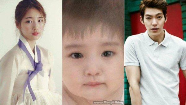 Độ đẹp đôi của Suzy và Kim Woo Bin trong Yêu không kiểm soát khiến khán giả cực kỳ tò mò em bé của cả hai sẽ trông như thế nào. Em bé này được cho là sẽ sở hữu đôi mắt to, má phính giống Suzy, mũi cao và khuôn miệng giống Kim Woo Bin. Tuy nhiên, điều này rất khó xảy ra vì hiện cả hai đều đã có nửa kia của mình.