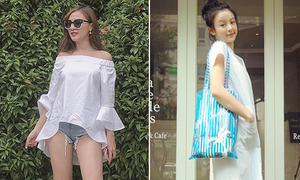 Sao style 10/8: Kelly mặc quần '5cm', Huyền Baby như nữ sinh Hàn