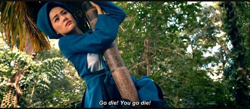 Cảnh phim giúp Hạ Vi trở thành nữ hoàng ảnh chế mới.