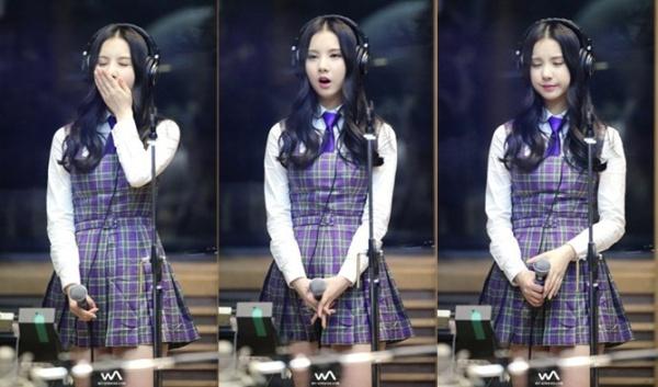 Eun Ha mệt mỏi, bơ phờ dù đang đi show, thành viên G-Friend còn không nhịn được cơn buồn ngủ khi hát.