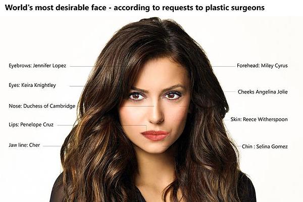 Đây chính là khuôn mặt hoàn hảo được nhiều phụ nữ mong muốn