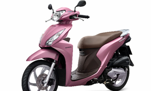 Xe Honda màu hồng siêu 'kute' cho các nàng kẹo ngọt