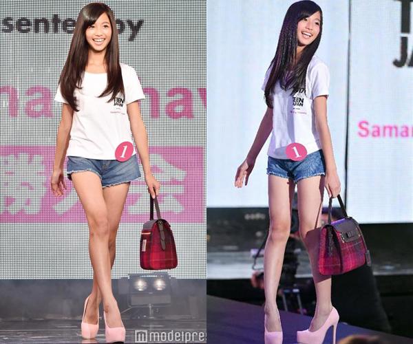 Itose Nanaha có chiều cao hơn 1m50, nặng 33 kg, được khen có đôi chân dài và vóc dáng đẹp.