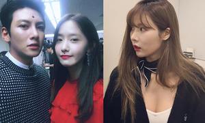 Sao Hàn 24/9: Yoon Ah dán nốt ruồi giả, Hyun Ah lộ cả mảng ngực sexy